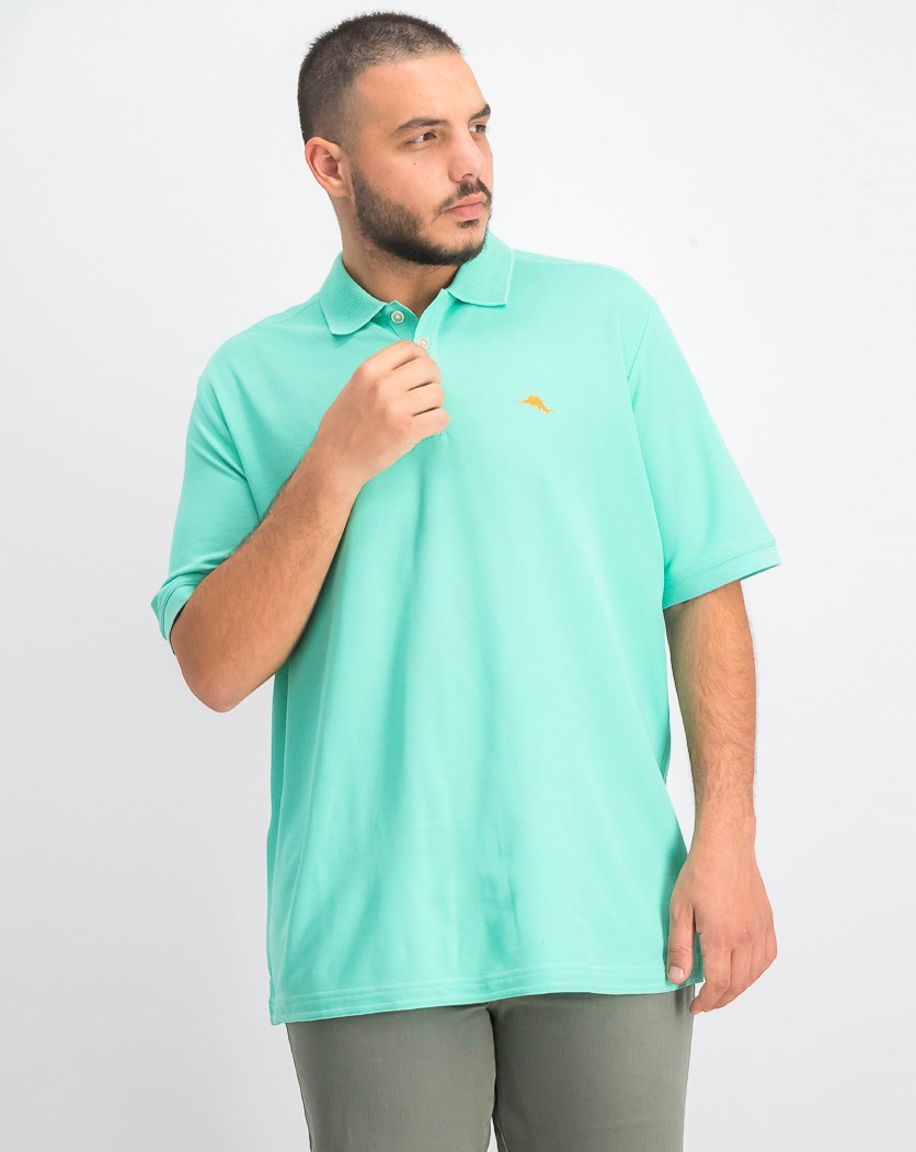 Men's Short Sleeve Polo Shirt, Mint Mojito Green