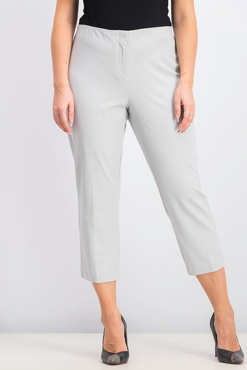 Women's Cropped Pants, New City Silver