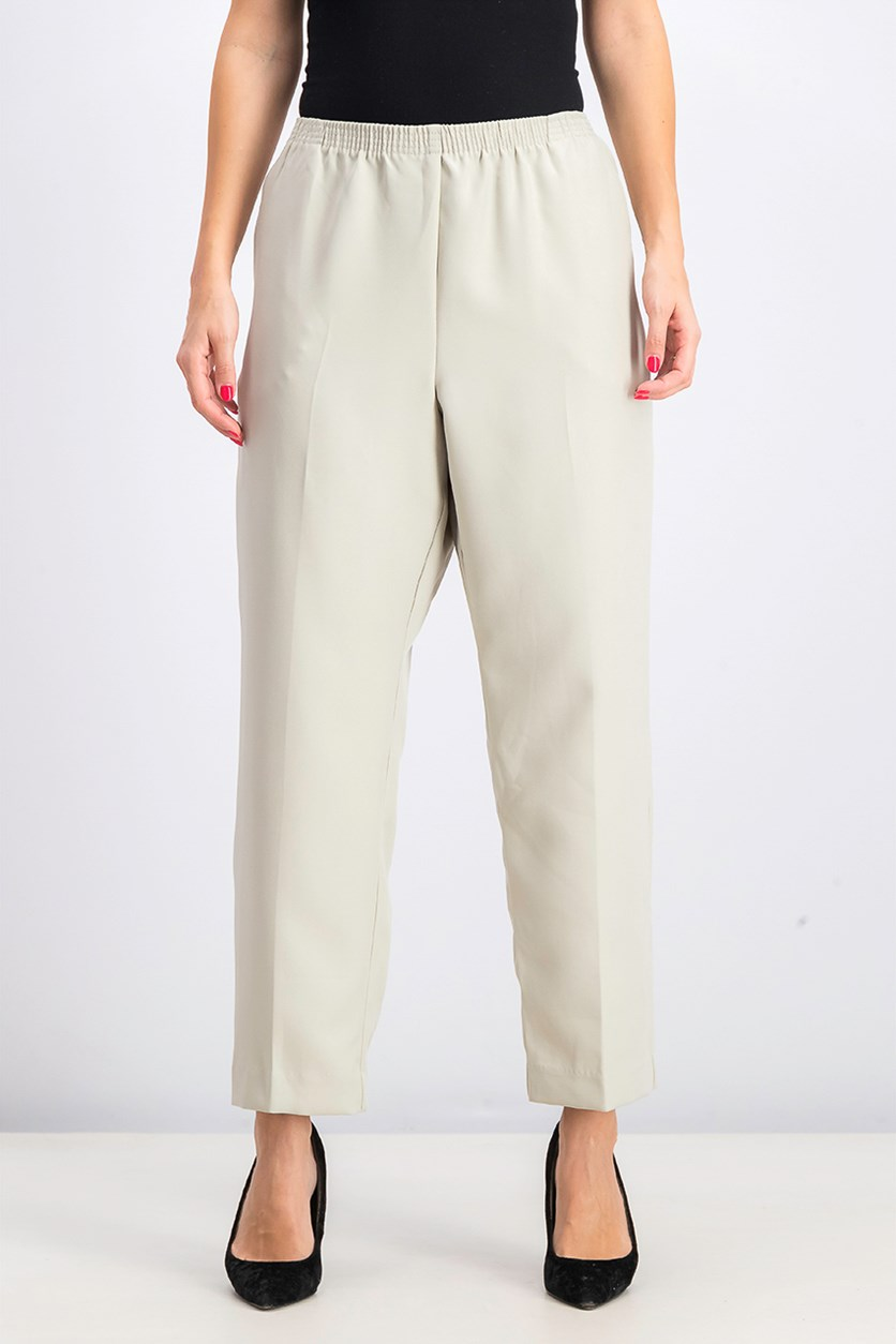 Women's Petite Pull-On Pants, Stonewall