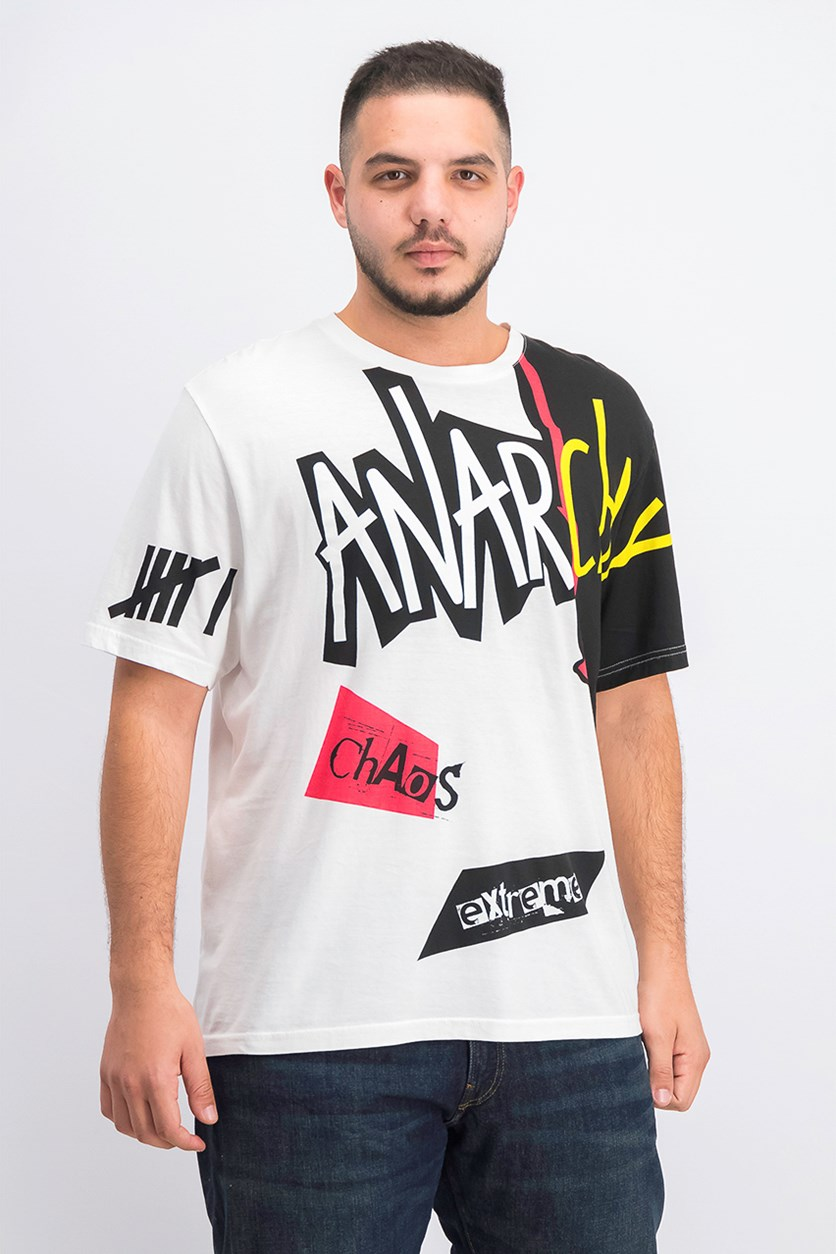 Men's Anarchy Graphic T-Shirt, White Combo