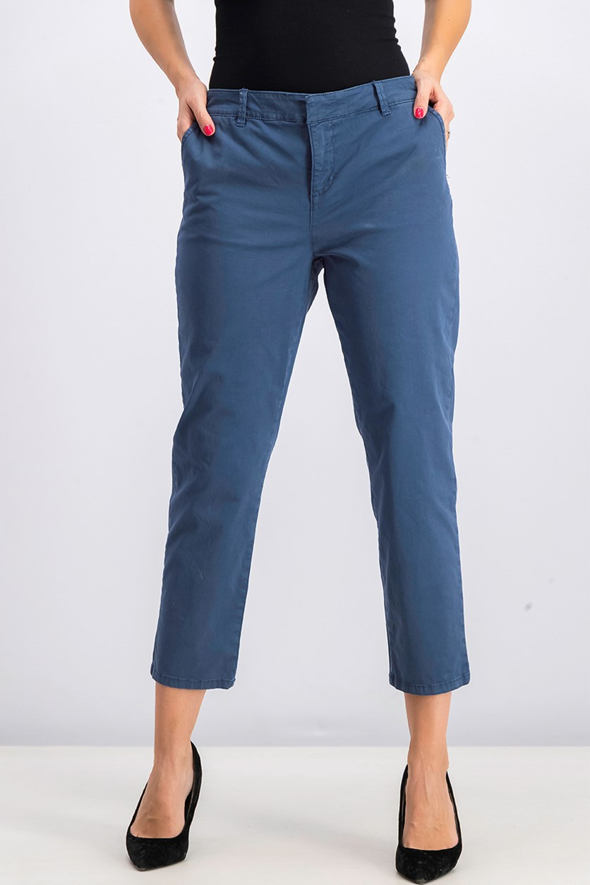 Women's Chino Pants, Uniform Blue