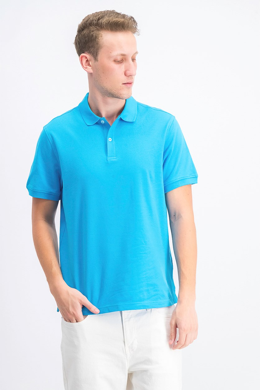 Men's Upf Stretch Performance Polo, Cosmic Turquoise