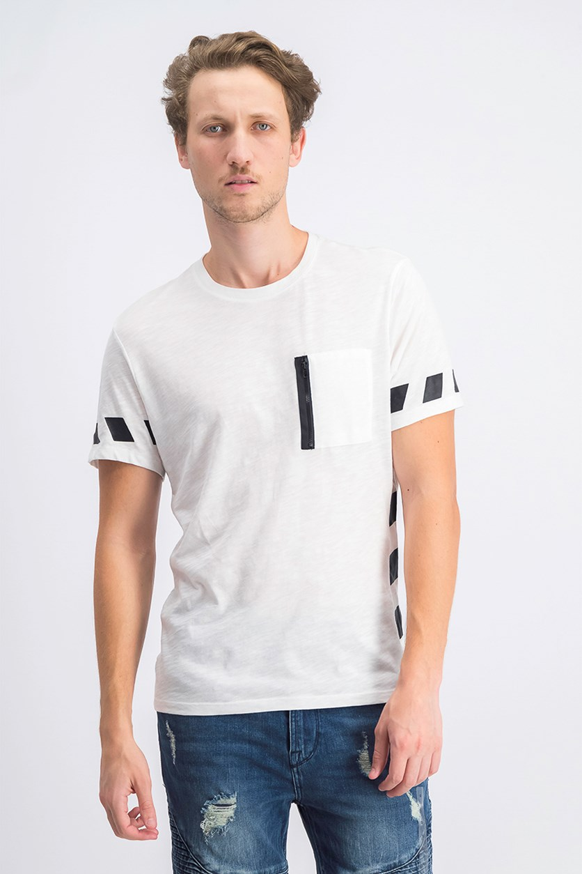 Men's Graphic Pocket T-Shirt, White Pure