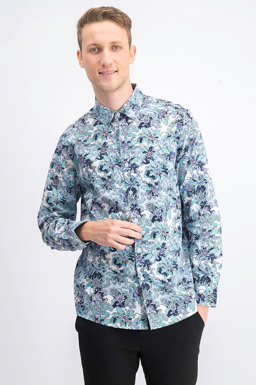 Men's Floral Graphic Shirt, Pastel Combo