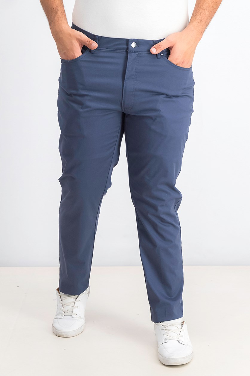 Men's Five-Pocket Performance Pants, Dusty Indigo