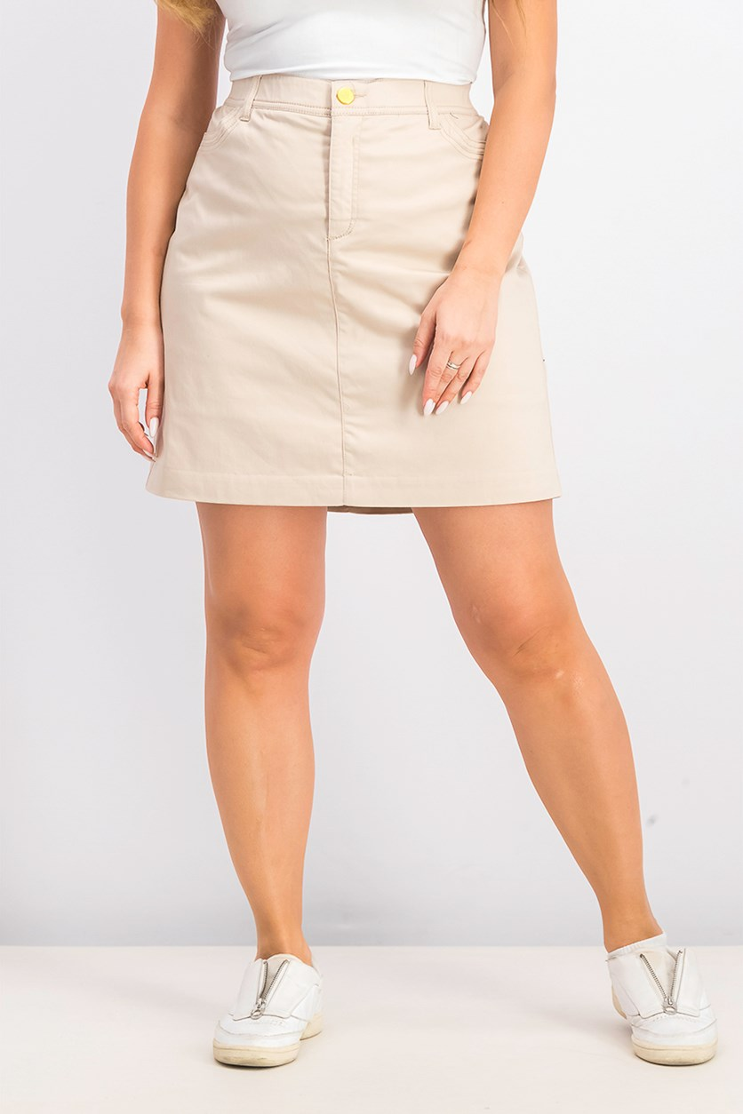 Women's Sateen Skirt, Sugar Sand