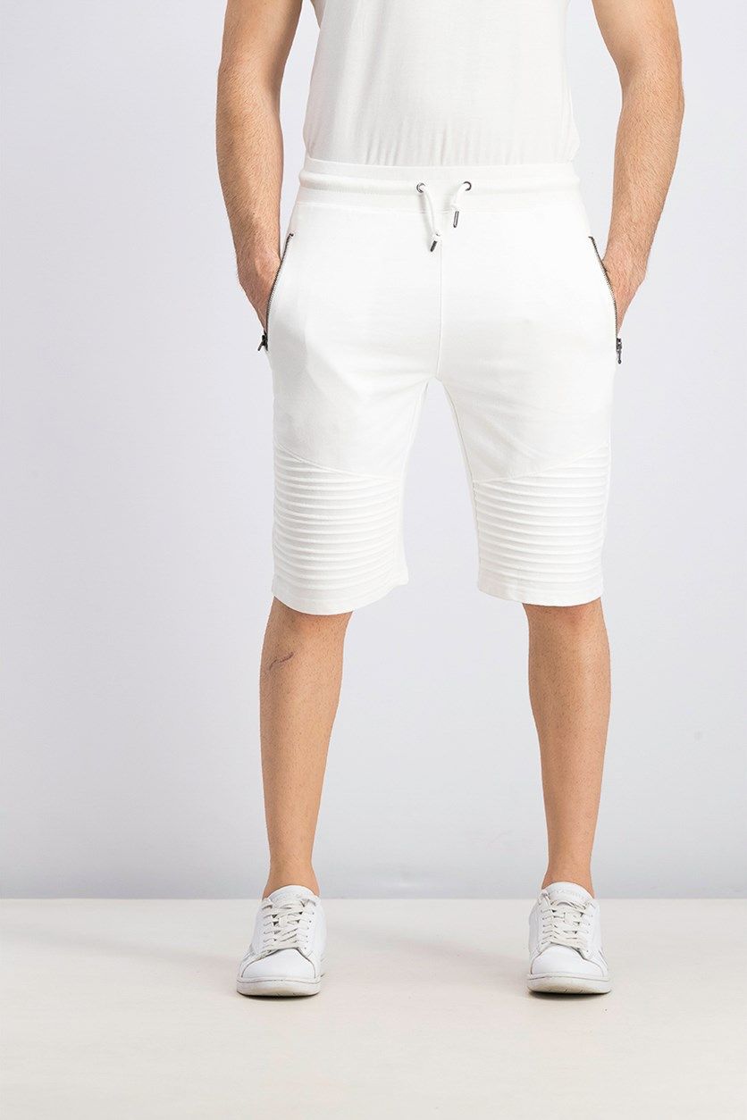 Men's Remix Knit Shorts, White Pure