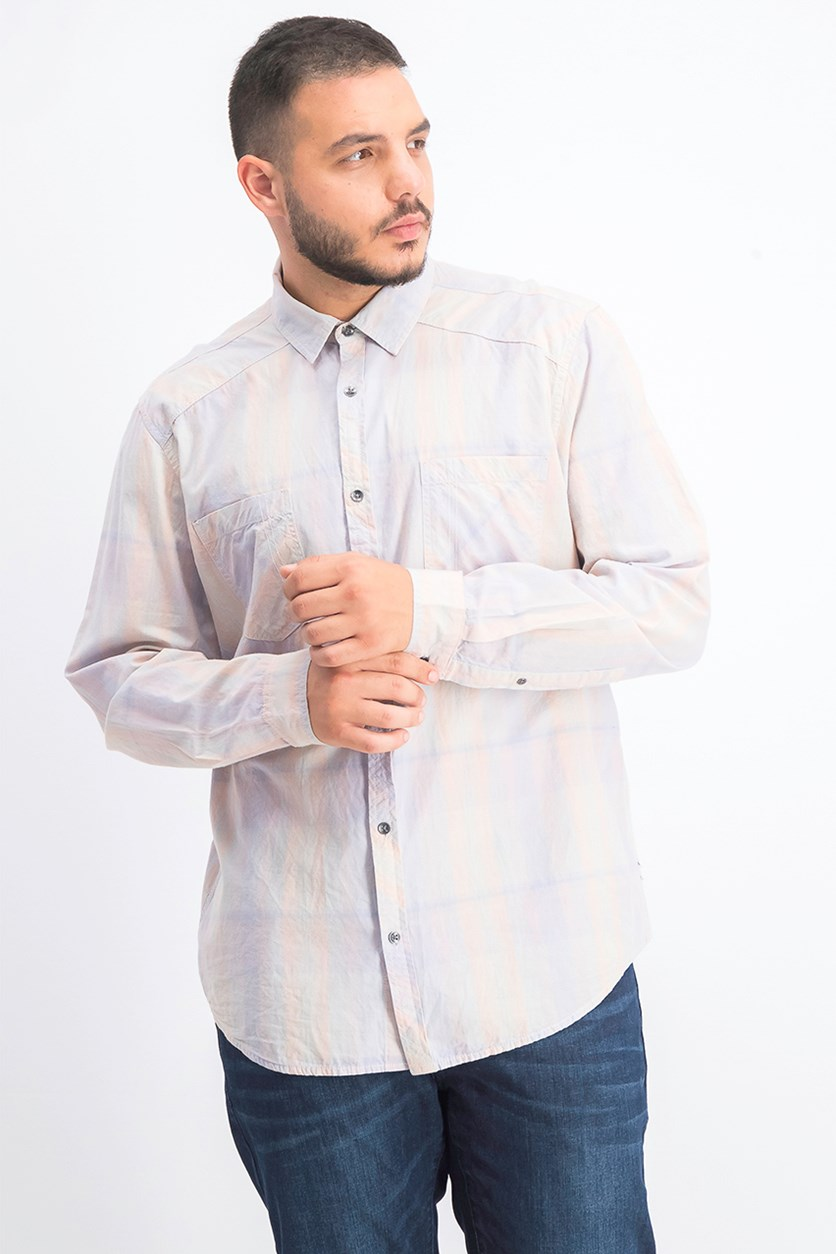 Men's Aaron Plaid Shirt, Evening Haze