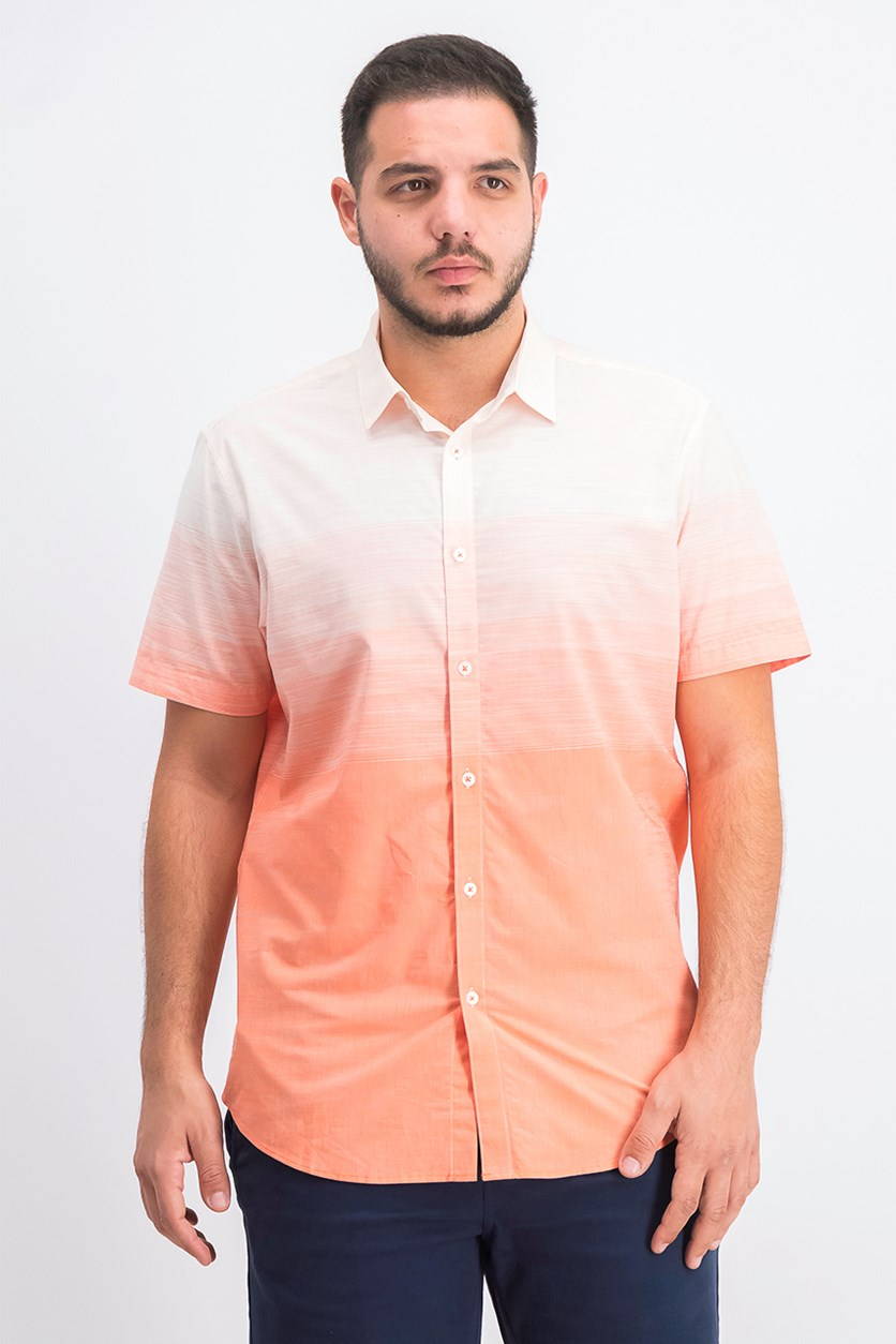 Men's Ombre Shirt, Blush Combo