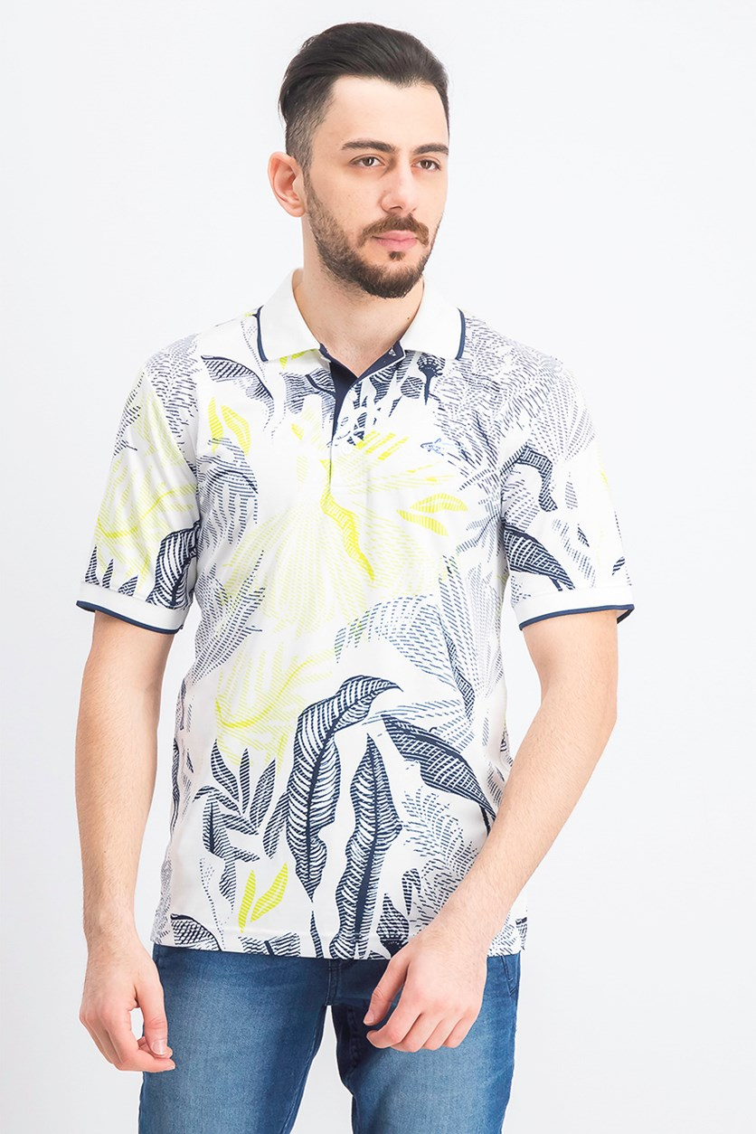 Men's Melwood Abstract Floral-Print Shirt, Bright White