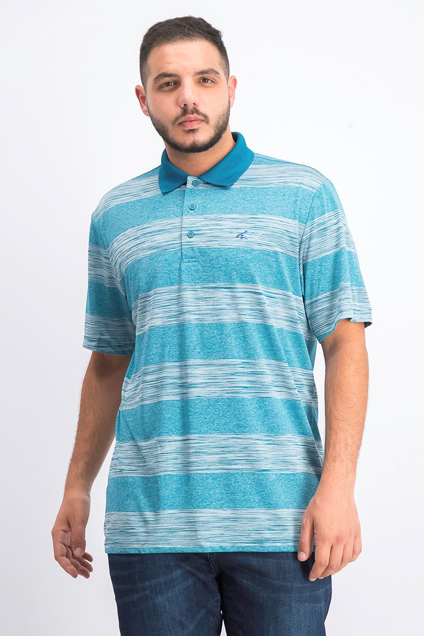 Mens Golf Outdoor Polo, Dragonfly Blue