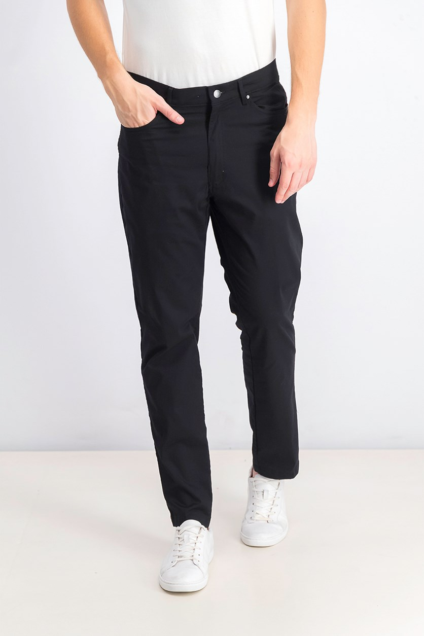 Men's Five-Pocket Performance Pants, Deep Black