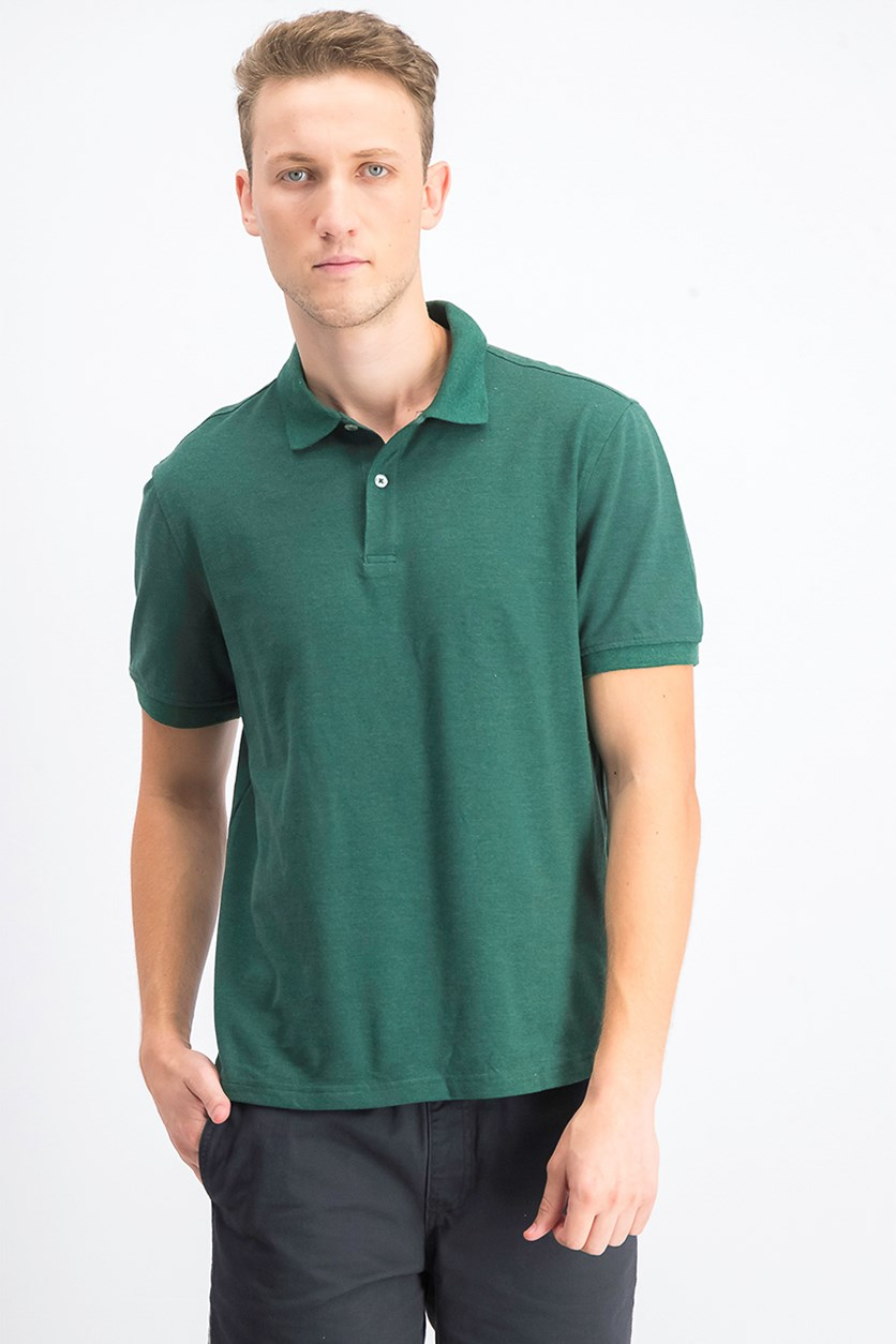 Men's Classic Fit Performance Pique Polo, Ocean Tropic