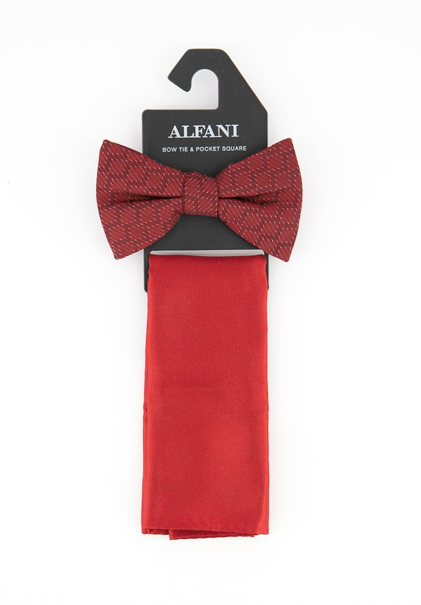 Men's Bow Tie & Pocket Square, Maroon