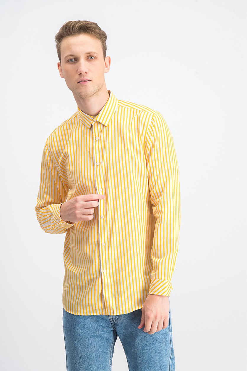 Men's Vertical Striped Shirt, Sparkling Sun