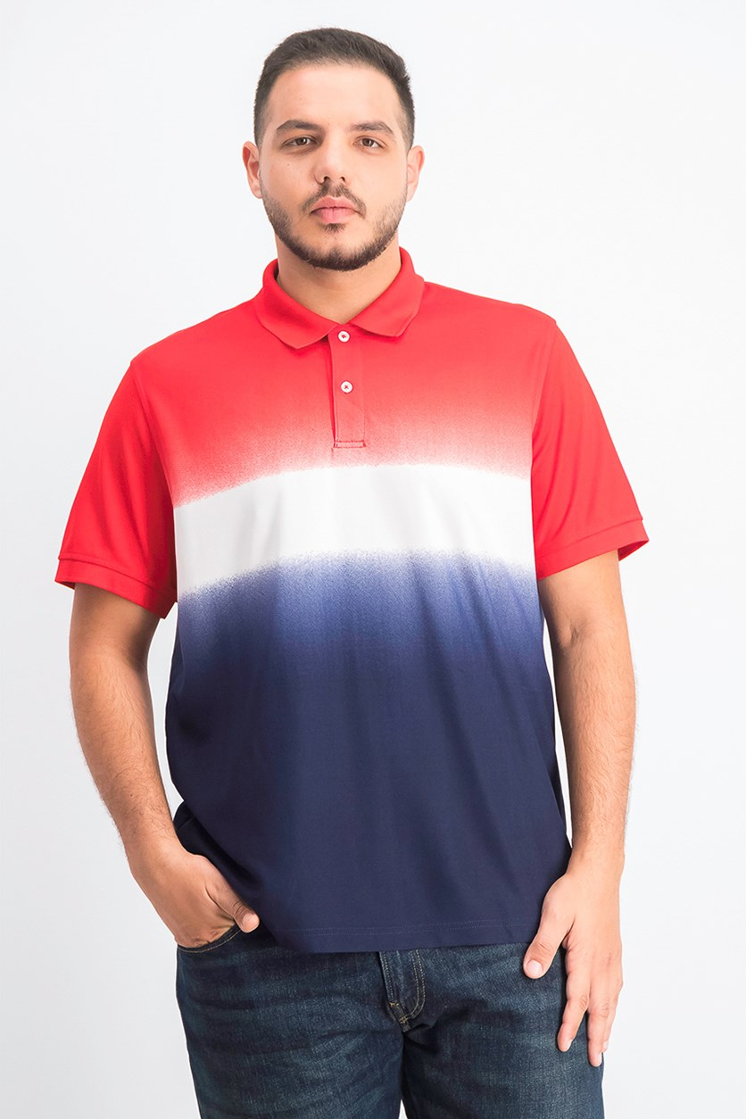 Men's Americana Ombre Polo, Fire