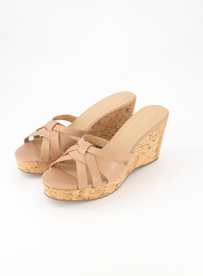 Womens Jaelyn Open Toe Casual Platform Sandals, Tan