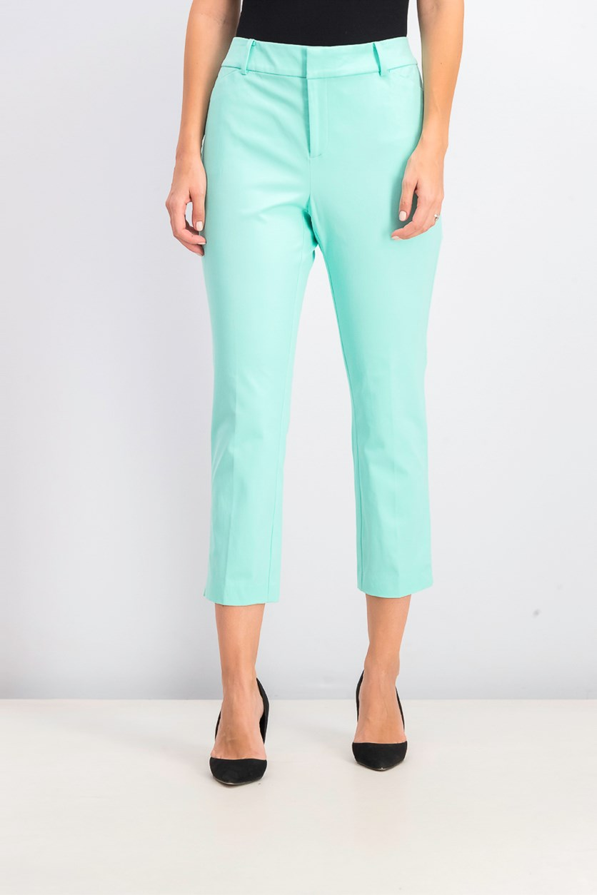 Women's Newport Tummy-Control Cropped Pants, Aqua