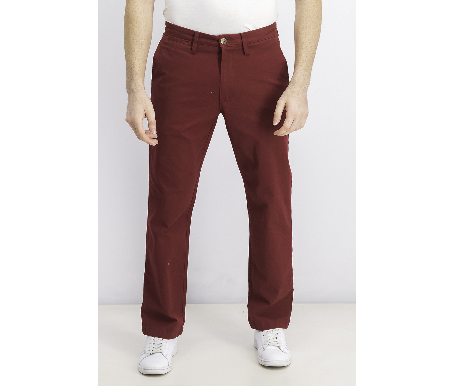 Mens Chino Pants, Carriage Red