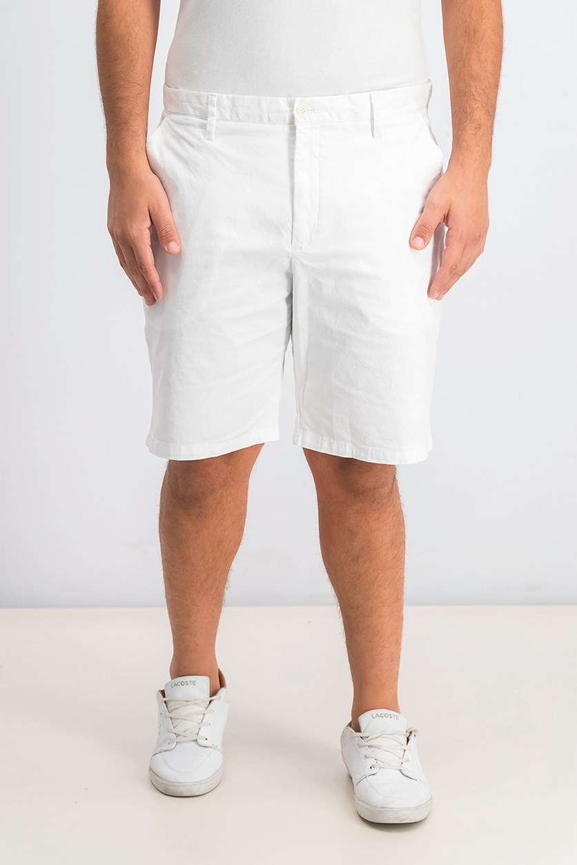 Men's Causal Stretch Shorts, Standard White