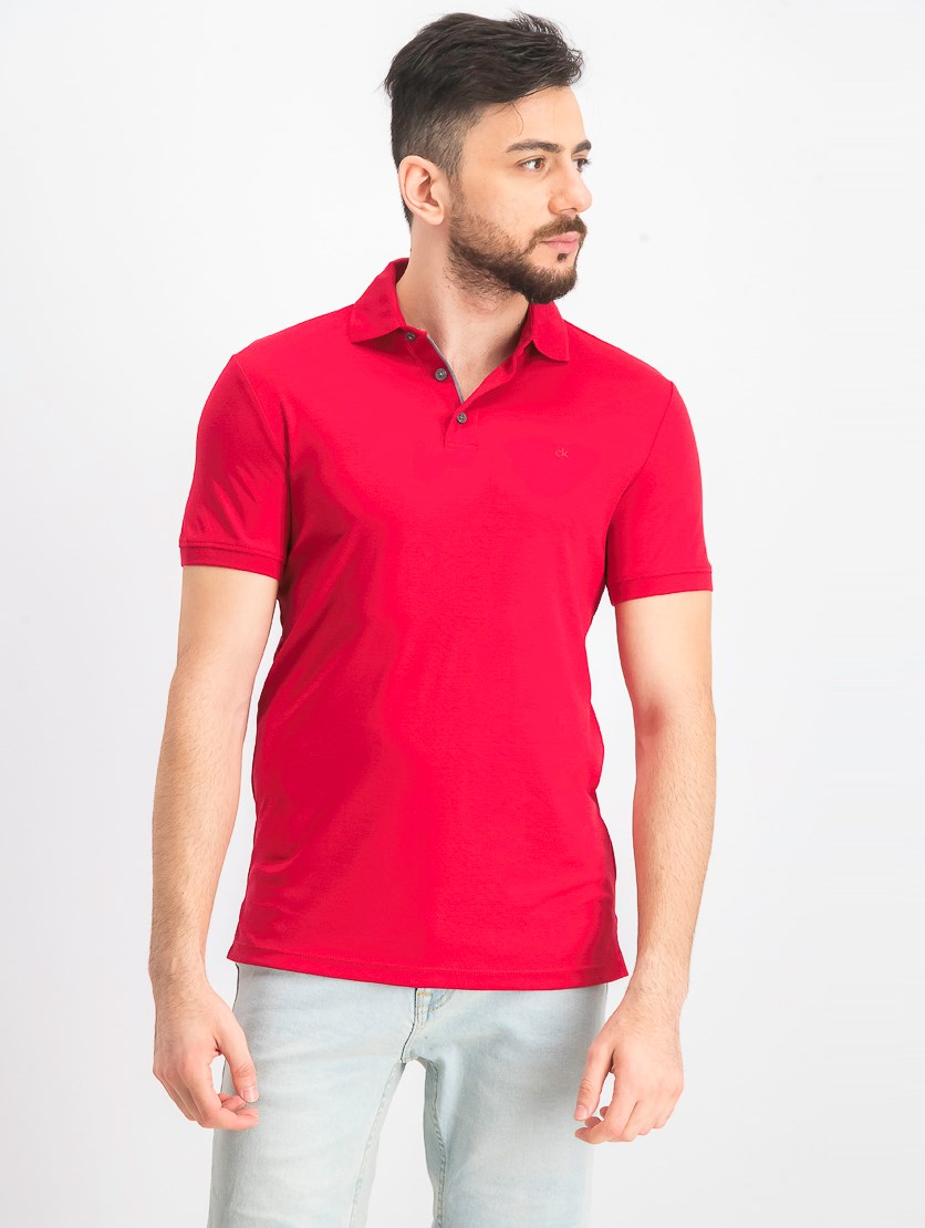 Men's Liquid Touch Polo, Chili Pepper