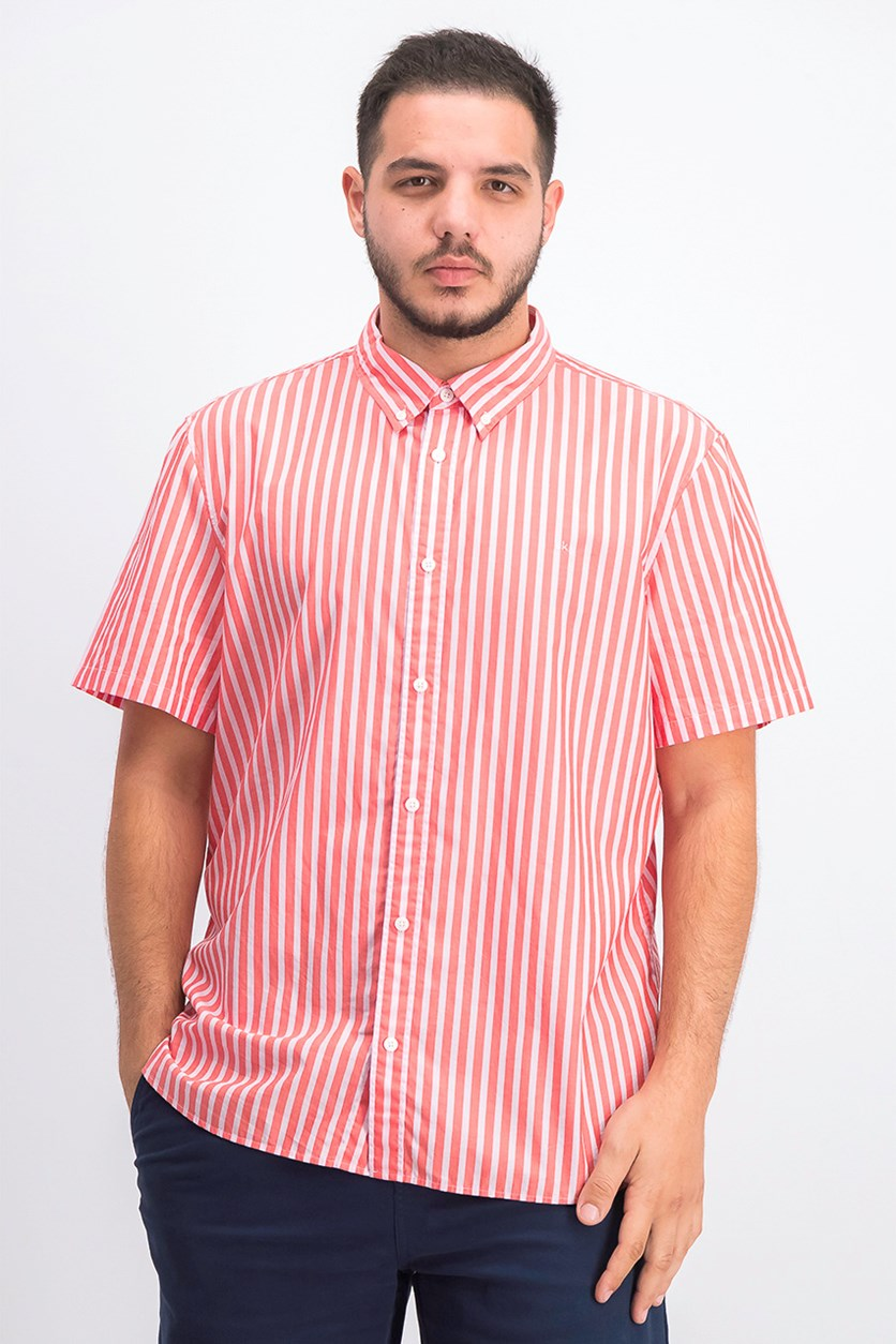 Men's Stripe Shirt, Poinsetta