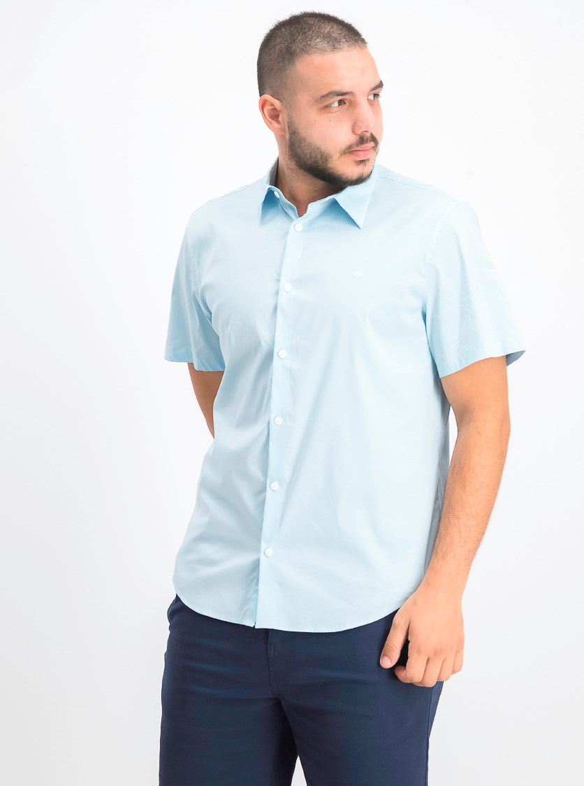 Men's Button-Up Shirt, Bright Ice