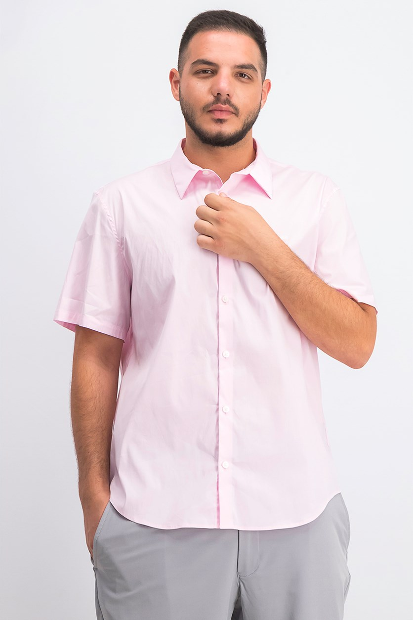 Men's Button-Up Shirt, Plush Pink