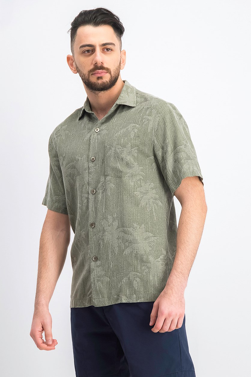 Men's Digital Palms Shirt, Olive