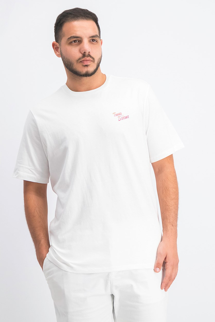 Men's Graphic Print Tee, White