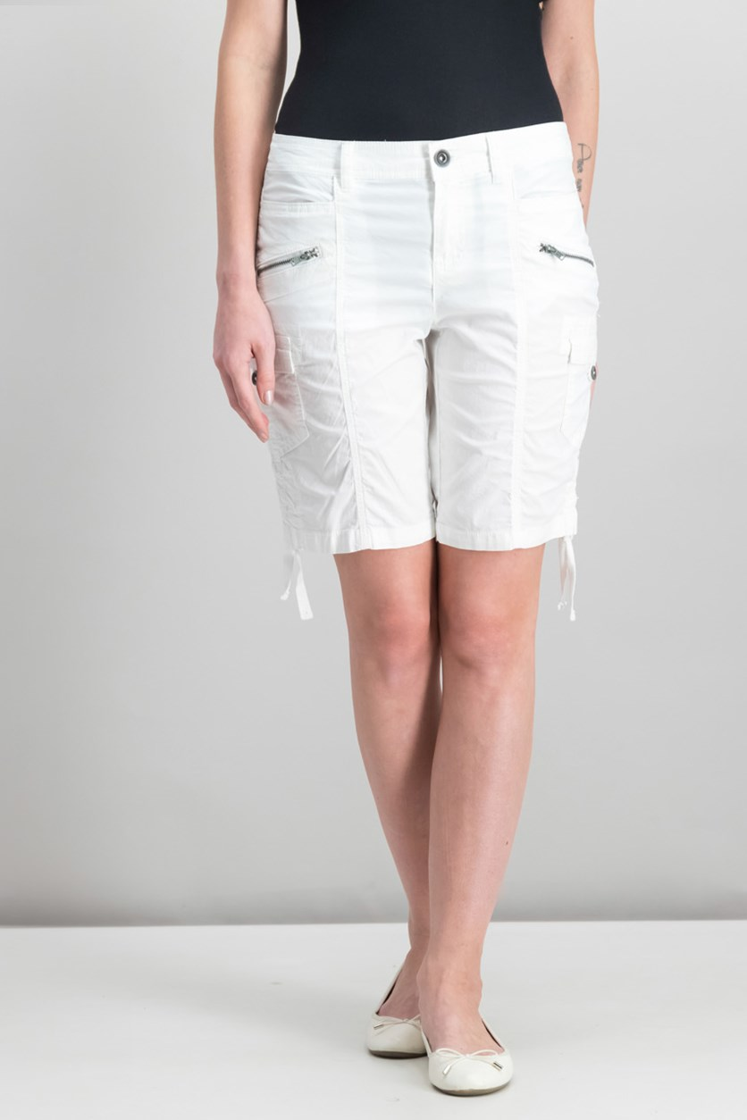 Women's Cargo Shorts, Bright White