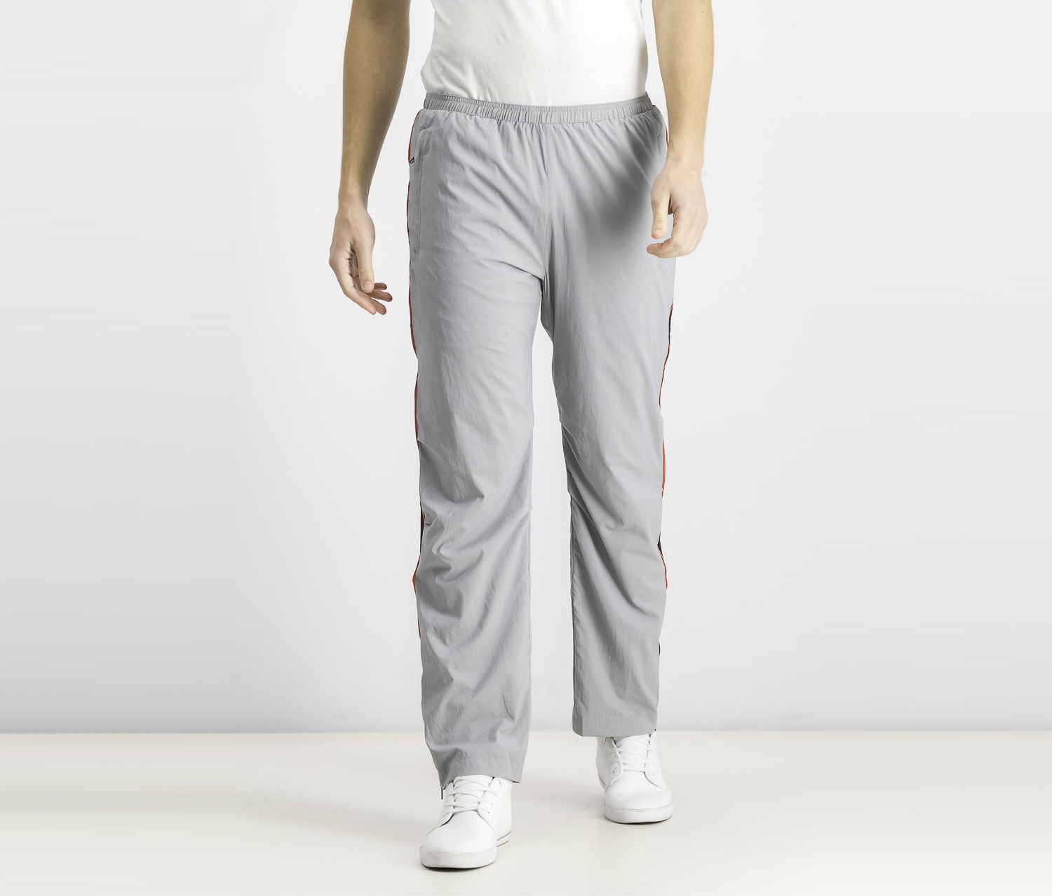 Men's Side-Stripe Track Pants, Grey