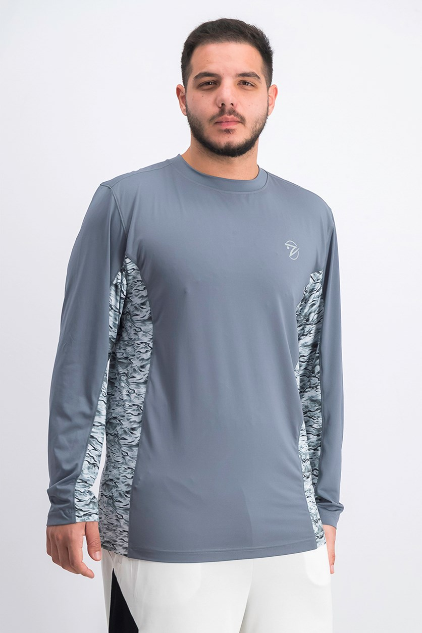 Men's Waterman CoolCore Quick-Dry Graphic Uv T-Shirt, Water Grey