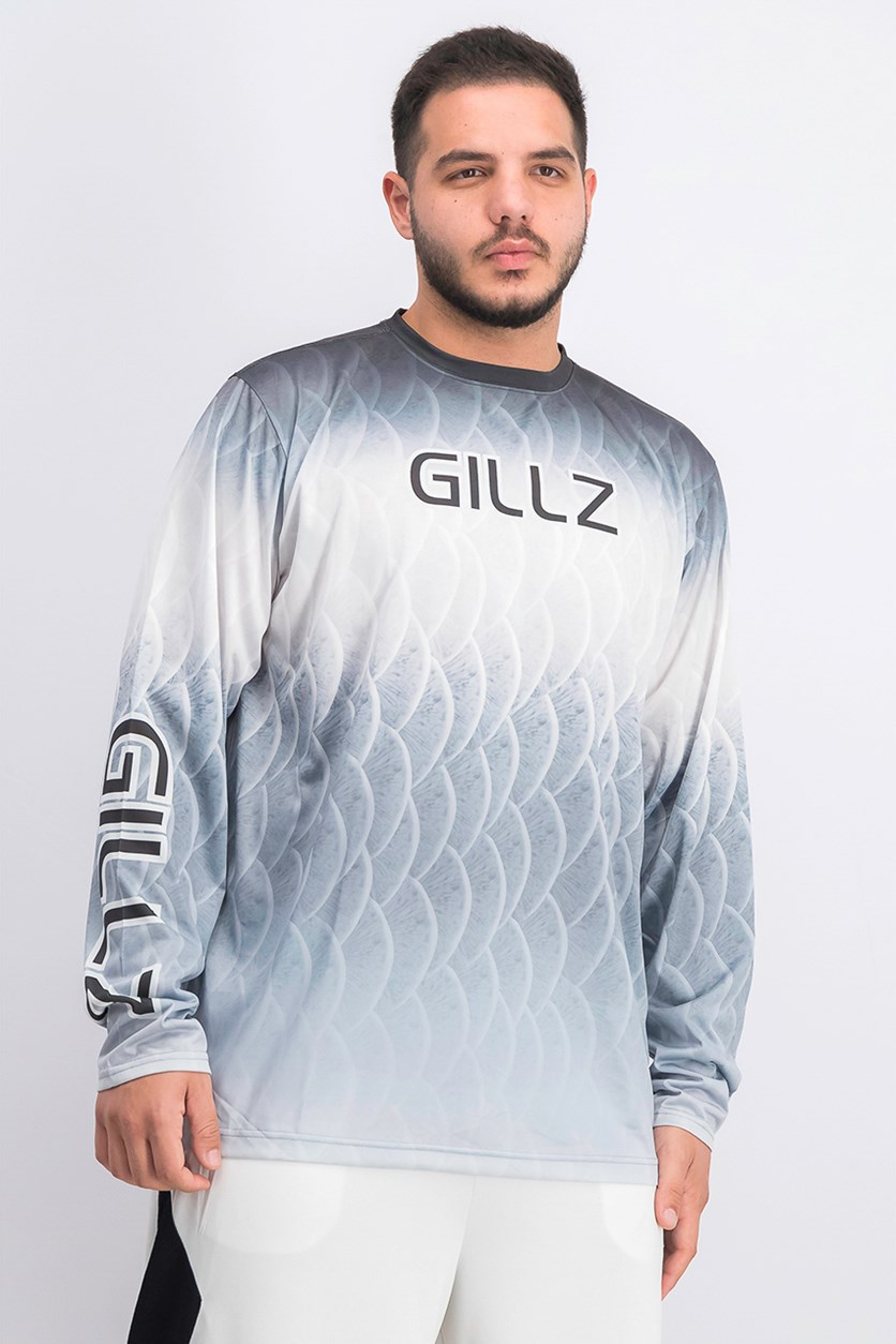 Mens Activewear Long Sleeve T-Shirt, Grey