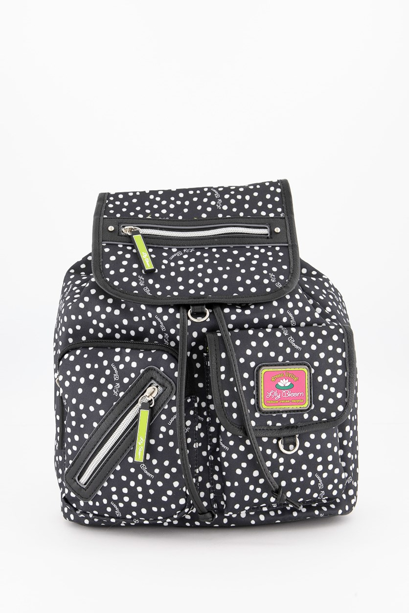 Women's Riley Dancing Dots Backpack, Black/White