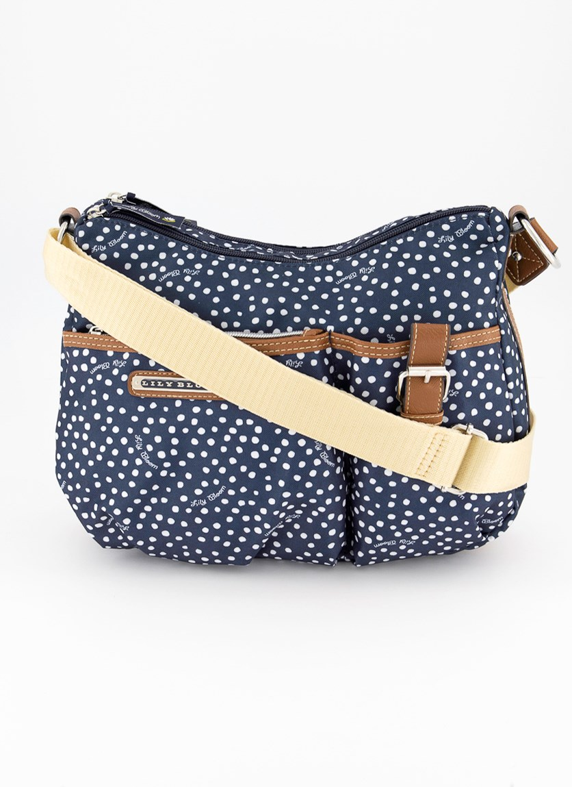 Womens Kathryn Classic Hobo Bags, Dancing Dots Navy
