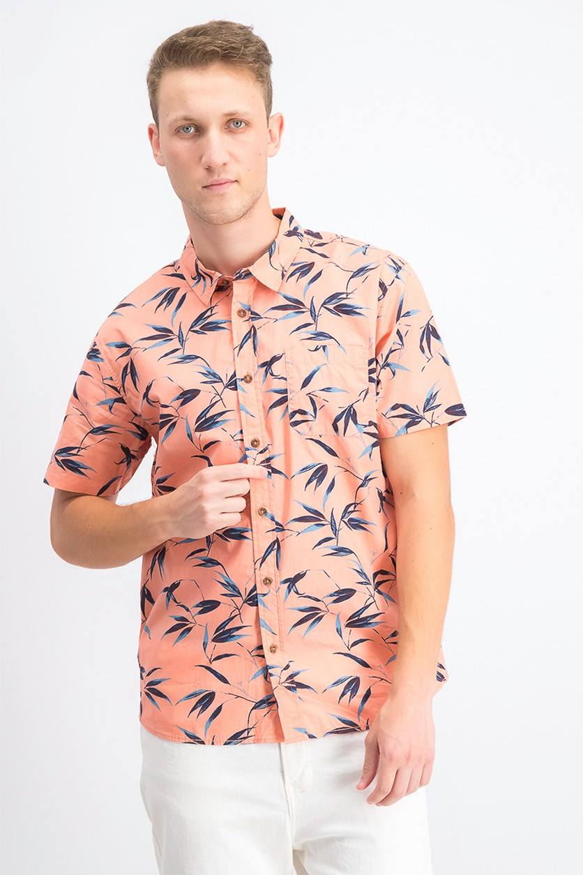 Men's Bamboo Short Sleeve Woven Shirt, Sunshine