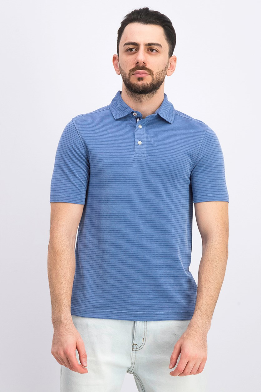 Men's Rainforest Solid Polo, Blue/White