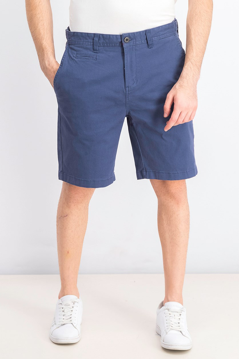 Men's Textured Chino Short, Navy