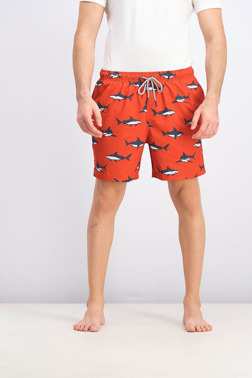 Men's Jaw Swim Trunks, Aurora Red
