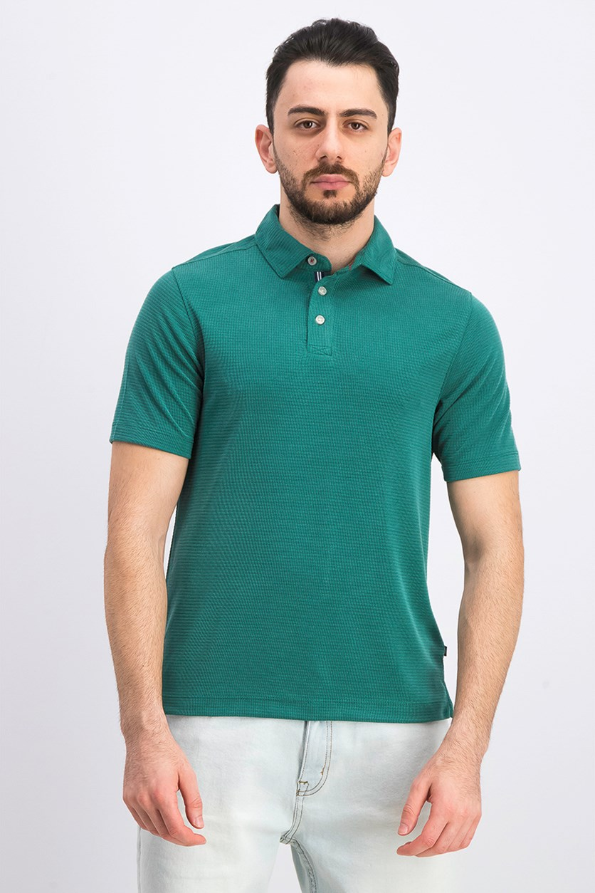 Men's Short Sleeve Polo Shirt, Evergreen