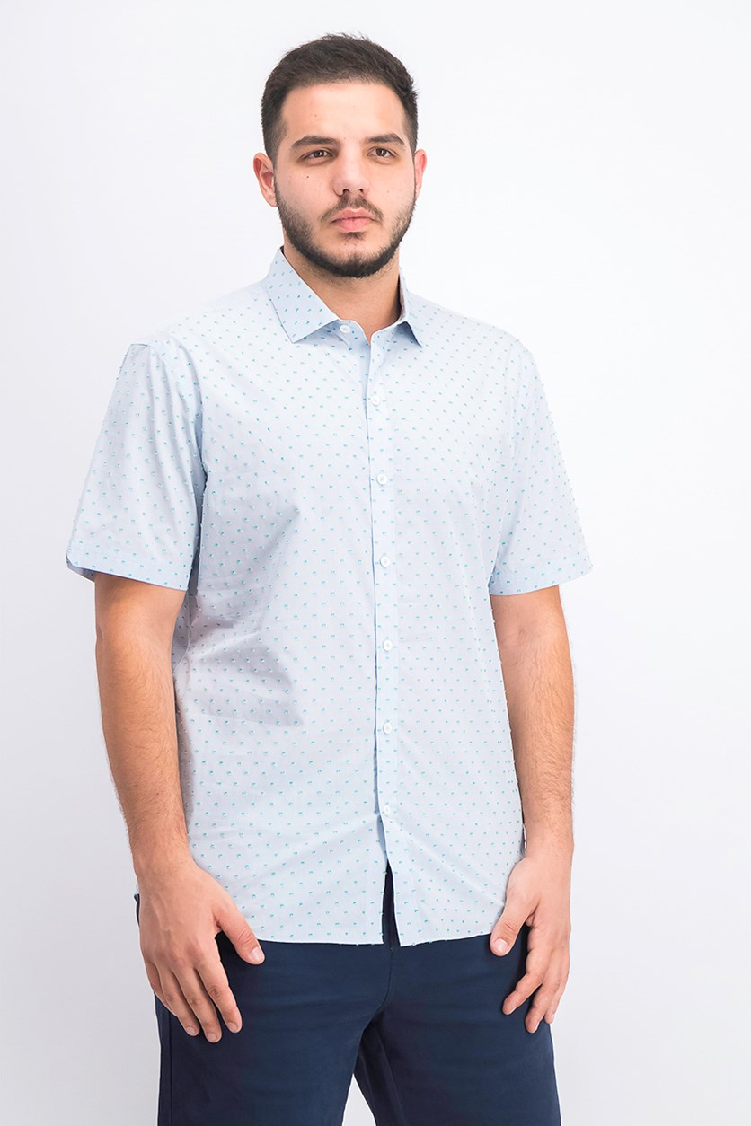 Men's Dolle Shortsleeve Shirt, Light Blue