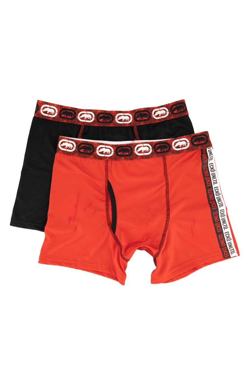 Men's 2 Pack Boxer Briefs, Red/Black