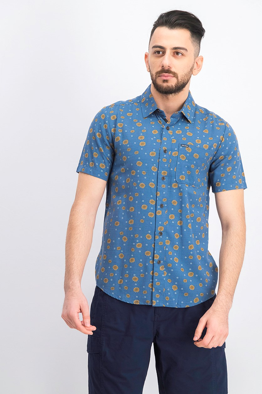 Men's Psych Dot Short Sleeve, Indigo