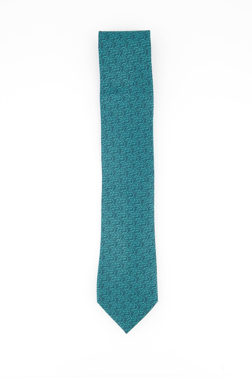 Men's Oslo Solid Silk Tie, Teal