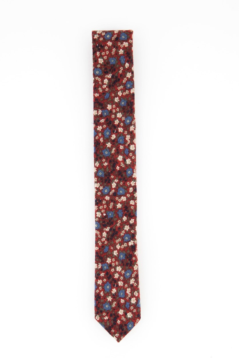 Men's Andras Skinny Floral Tie, Red Combo