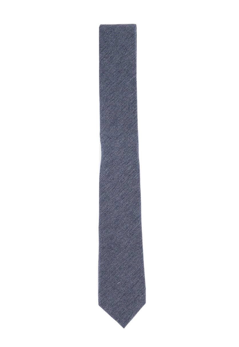 Men's Arness Solid Skinny Tie, Medium Blue