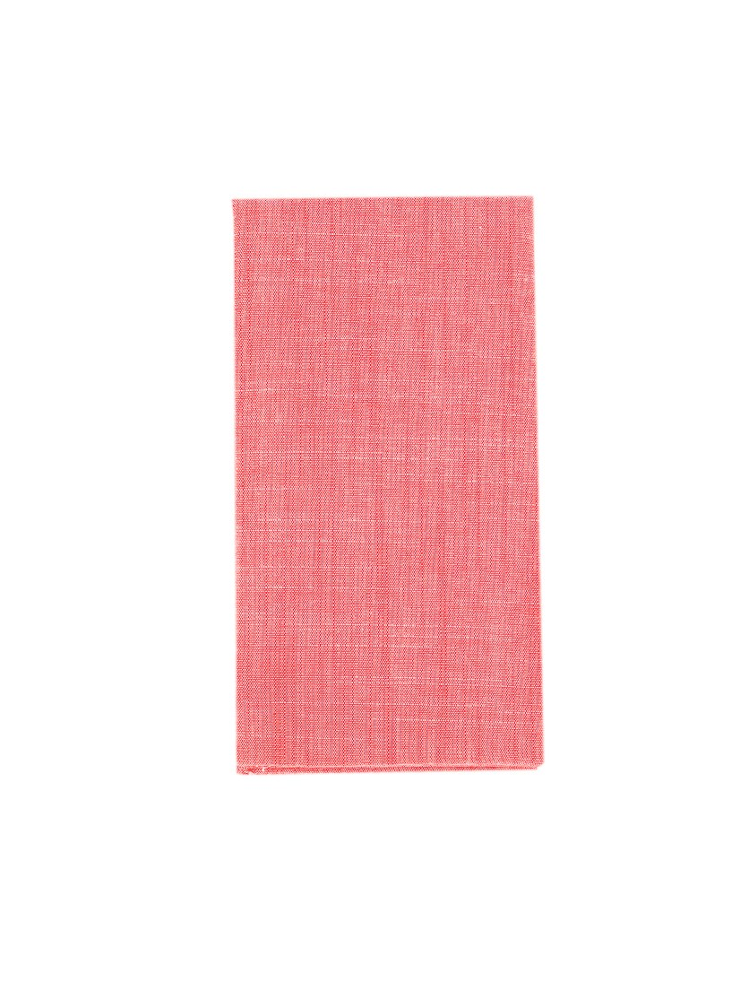 Men's Cotton Solid Handkerchief Pocket Square, Red