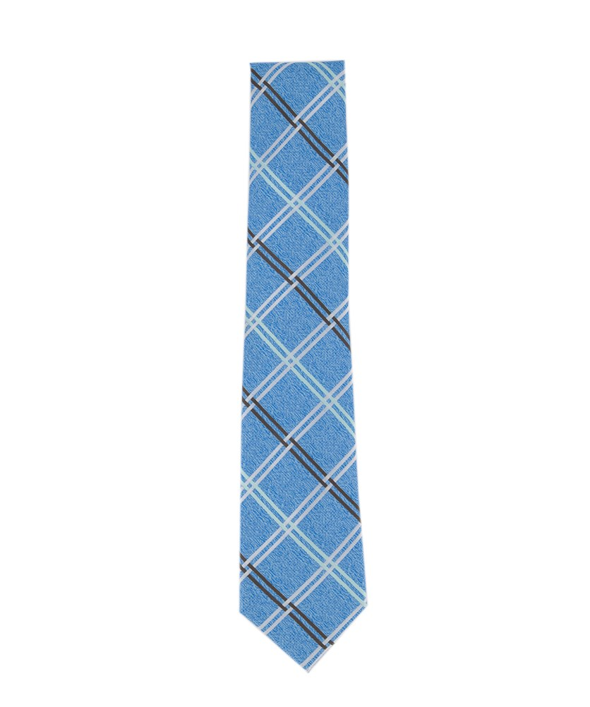 Men's Nova Grid Tie, Blue