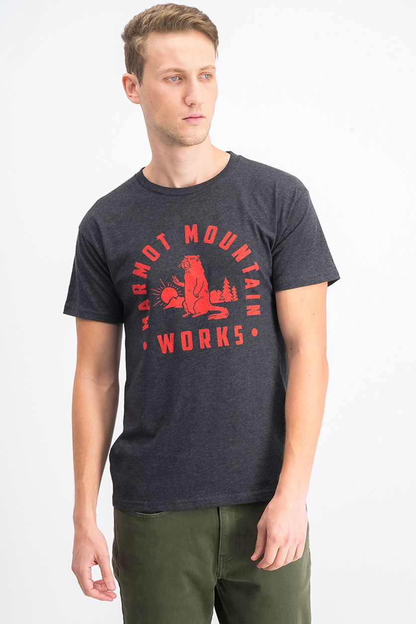 Men's Mountain Works Short Sleeve T-Shirt, Charcoal Heather